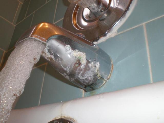 Coroded Underside Tub Spout
